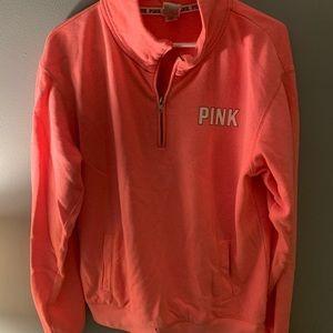 Pink quarter zip